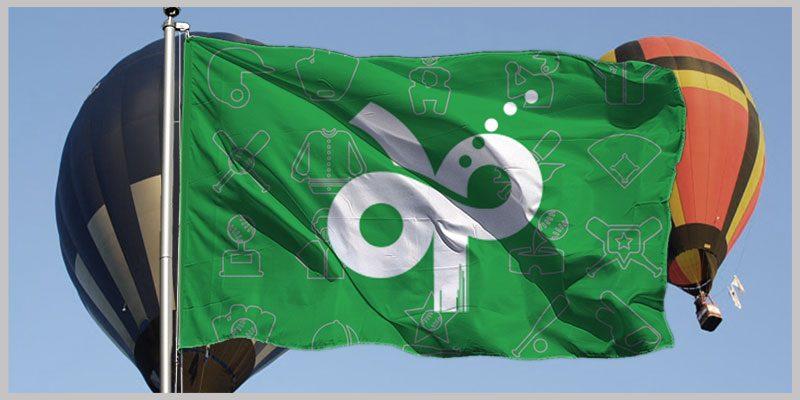 千葉市緑区少年軟式野球連盟 フラッグ画像