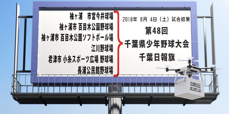 千葉日報杯-8月4日試合結果案内スタジアム鉄塔画像