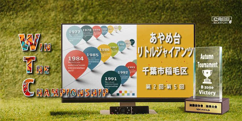 京葉少年野球連盟 秋季大会 歴代記録 Bゾーン あやめ台リトルジャイアンツ