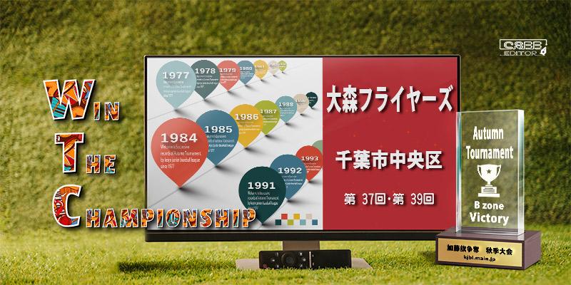京葉少年野球連盟 秋季大会 歴代記録 Bゾーン 大森フライヤーズ