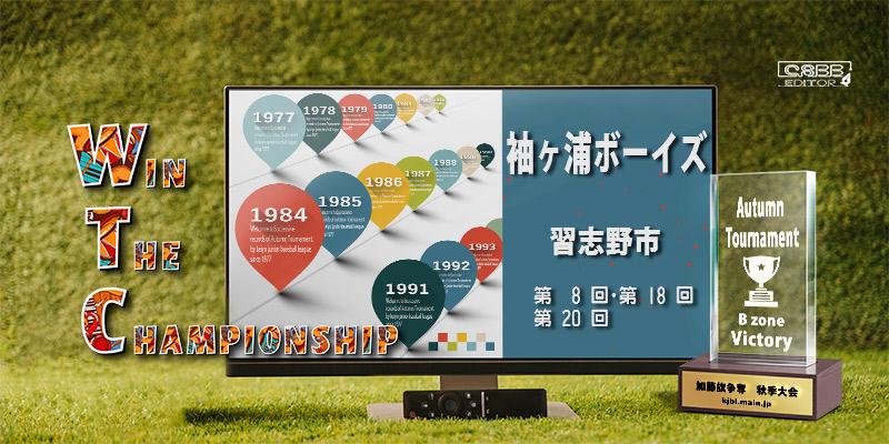 京葉少年野球連盟 秋季大会 歴代記録 Bゾーン 袖ヶ浦ボーイズ