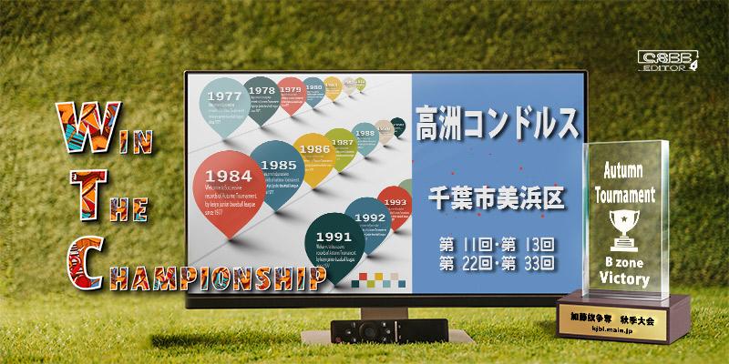 京葉少年野球連盟 秋季大会 歴代記録 Bゾーン 高洲コンドルス
